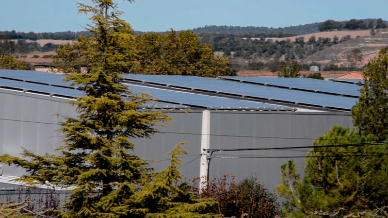 Fotovoltaica industrial sobre teulada