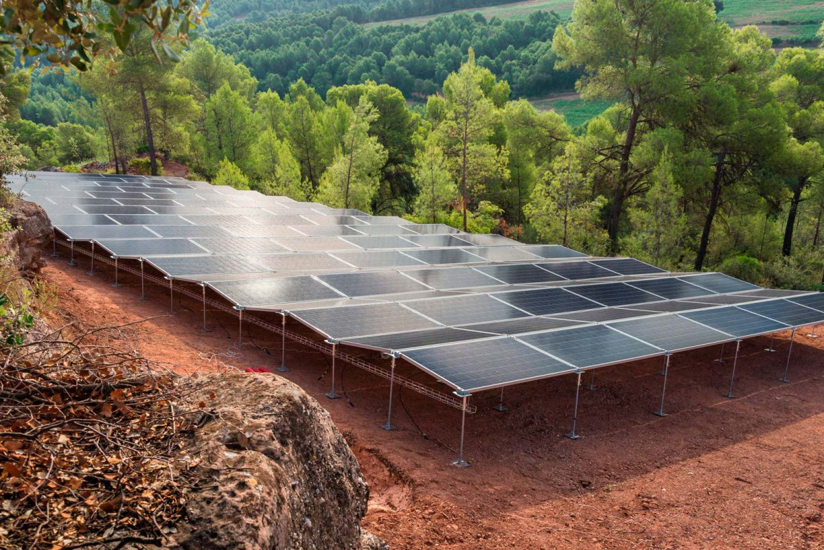 Campo solar de 55kW para autoconsumo