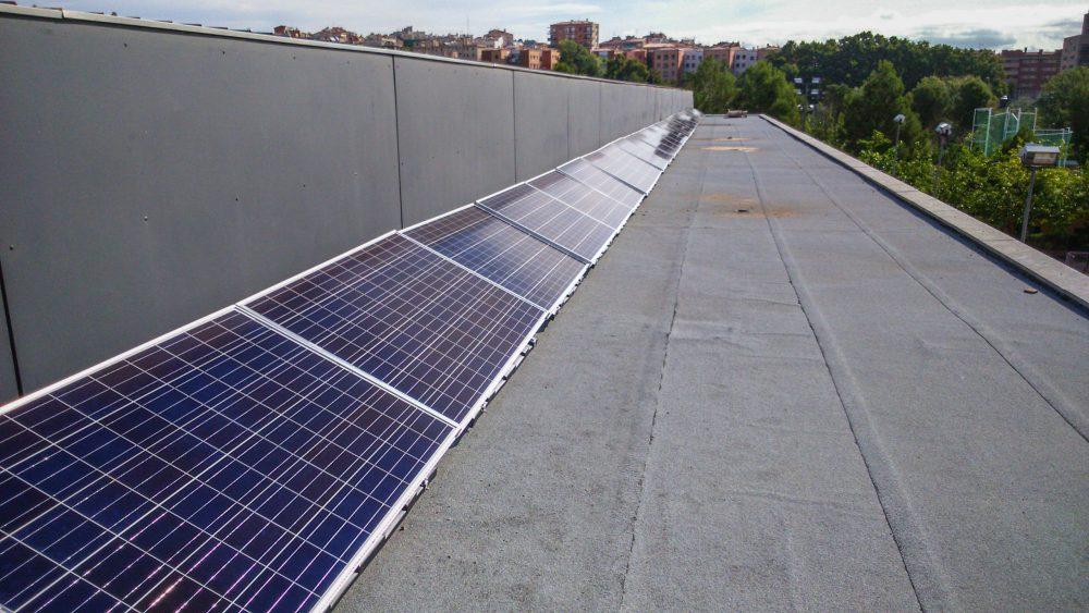 Instalación solar en el Vell Congost de Manresa