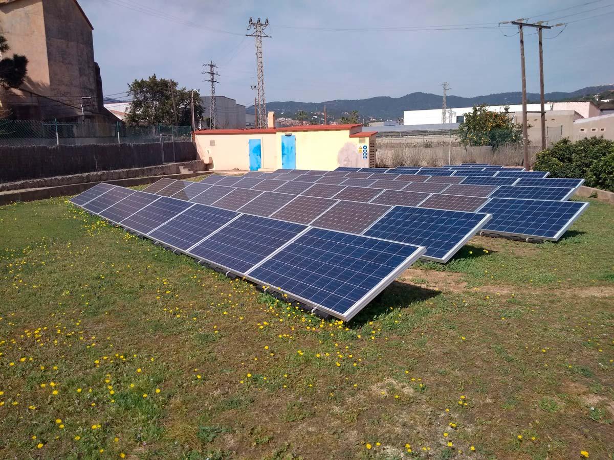 Camp fotovoltaic (mòduls fotovoltaics nous i existents)