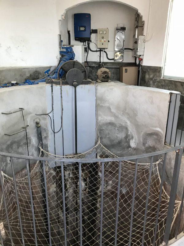 Sala de bombeo y de la parte eléctrica de la instalación